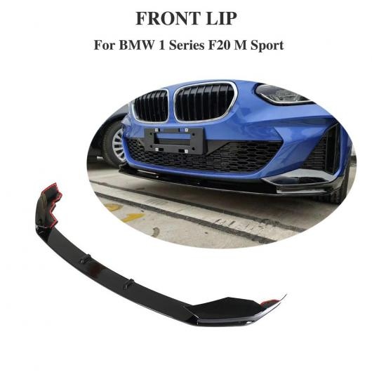 AL 車用外装パーツ PP グロッシー ブラック フロント リップ スポイラー 適用: BMW 1 シリーズ F20 スポーツ 2019 ヘッド バンパー AL-DD-8682