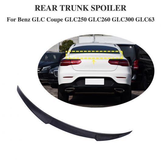 AL 車用外装パーツ カーボンファイバー リア スポイラー トランク ウイング 適用: メルセデス GLCクラス W253 クーペ スポーツ AMG セダン 2016-2019 AL-DD-8765