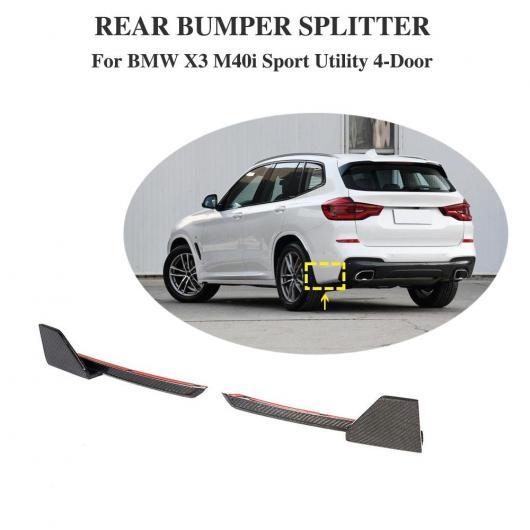 AL 車用外装パーツ リア バンパー リップ スポイラー スプリッター サイド エプロン 適用: BMW X3 M-sport 2018+ AL-DD-8803