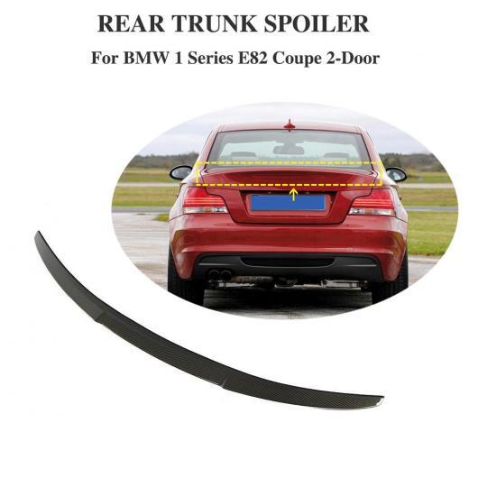 AL 車用外装パーツ 適用: BMW E82 スポイラー リップ ウイング カーボンファイバー 適用: BMW 1 シリーズ E82 クーペ 118i 120i 125i 128i リア トランク ウイングS スポイラー 2007-2012 AL-DD-8823