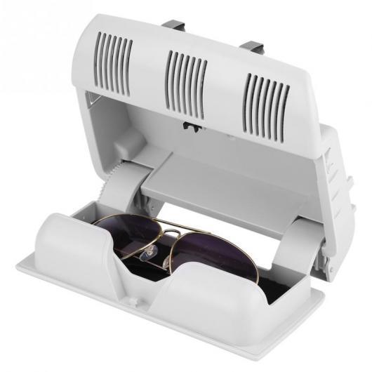 AL 車用内装パーツ 適用: シュコダ オクタヴィア ファビア ルームスター サングラス ボックス サングラス ケース コンテナ 眼鏡 ホルダー ホワイト・グレー AL-DD-8914