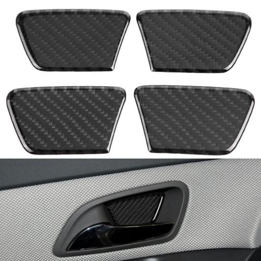 AL 車用内装パーツ 4個 カーボンファイバー 素材 ドア ボウル 装飾 カバー トリム 適用: シボレー クルーズ 2009-2015 AL-DD-8980