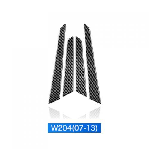 AL 車用外装パーツ 4PC ドア パネル ステッカー 適用: W204 メルセデスベンツ ステッカー カーボンファイバー トリム 適用: メルセデスベンツ W204 W204 07-13 AL-DD-7620