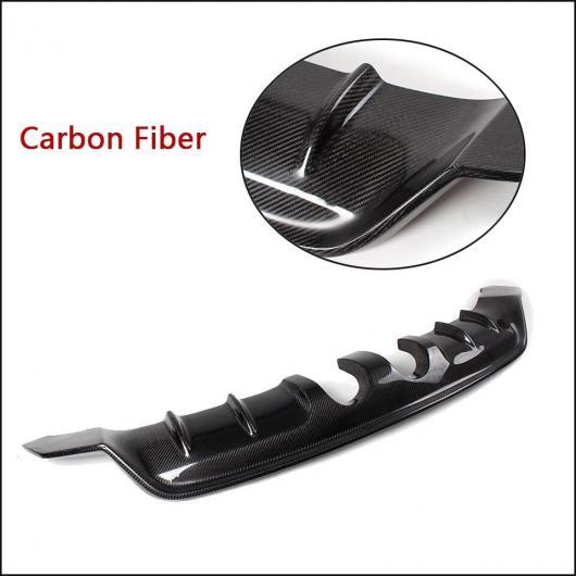 AL 車用外装パーツ リア ディフューザー スポイラー リップ 適用: フォルクスワーゲン VW R20 バンパー 2012-2014 リア エキゾースト ディフューザー カーボンファイバー AL-DD-7850