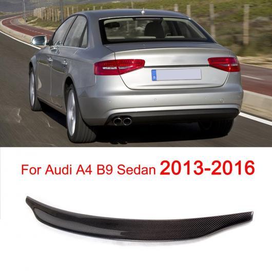 AL 車用外装パーツ カーボンファイバー リア スポイラー ウインドウ ウイング 適用: アウディ A4 B8 B9 セダン 4ドア 2009-2018 ダークグレー AL-DD-8277