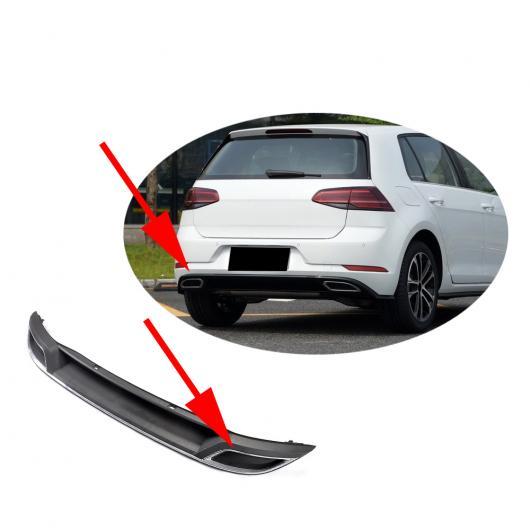 AL 車用外装パーツ PP リア バンパー ディフューザー リップ スポイラー 適用: フォルクスワーゲン VW ゴルフ 7 MK7 7.5 スタンダード GTI 2017 2018 2019 スクエア AL-DD-8403