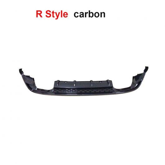 AL 車用外装パーツ カーボン リア ディフューザー 適用: VW ゴルフ 7.5 MK7.5 スタンダード GTI 2017 2018 4本出し リア バンパー リップ ディフューザー スポイラー 2 スタイル R カーボン AL-DD-8519