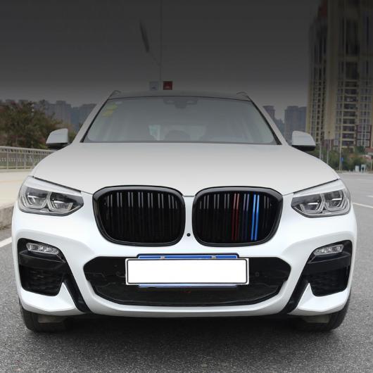 AL 車用外装パーツ スタイリング xDrive 20i xDrive 30i フロント グリル 適用: BMW X3 X4 バンパー レーシング グリル G01 G02 グロス M 2018+ M グロス ブラック AL-DD-8583