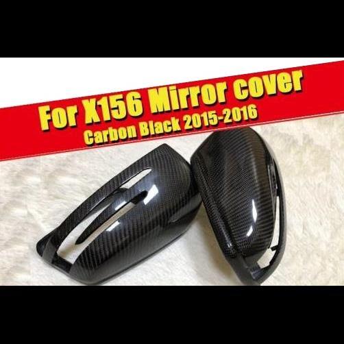AL 車用外装パーツ 適用: メルセデスベンツ X156 GLAクラス サイド ミラー カバー ヘッド 2個 カーボンファイバー GLA180 GLA200 GLA250 GLA45 スタイル 15-16 タイプ001 AL-EE-0192