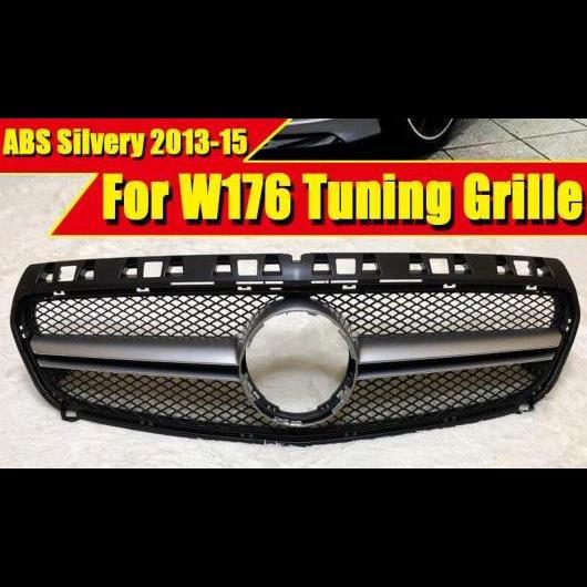 AL 車用外装パーツ W176 Aクラス A45AMG グリッド グリル ABS シルバー A160 A180 A200 A220 A250 A45 グリル 適用: モデルチェンジ前 モデル 09/2015 タイプ001 AL-EE-0280