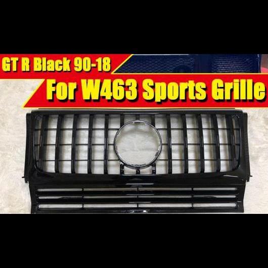 AL 車用外装パーツ 適用: メルセデス G-ワゴン W463 G550 G500 GTS スタイル フロント グリッド グリル ABS 光沢ブラック G53 G65 1990-18 タイプ001 AL-EE-0349