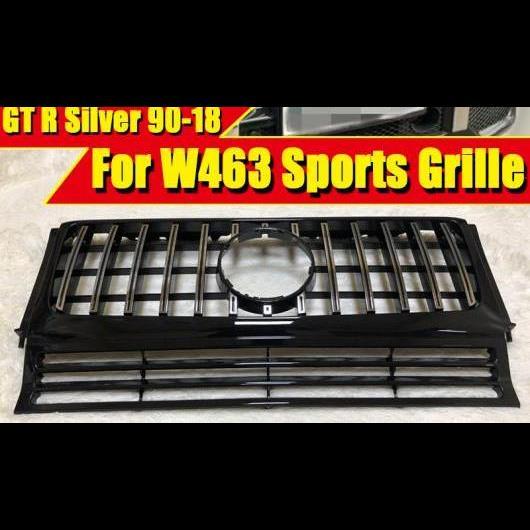 AL 車用外装パーツ 適用: メルセデス Gクラス W463 G-ワゴン G550 G500 G55 G63 フロント グリッド グリル GTS スタイル ABS シルバー 1990-2018 タイプ001 AL-EE-0353