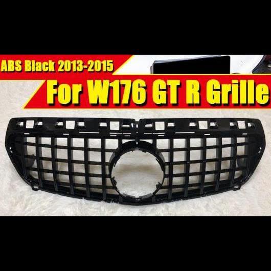 AL 車用外装パーツ 適用: メルセデス Aクラス W176 スポーツ サルーン エステート クーペ フロント バンパー GTS グリッド グリル ABS 光沢ブラック アドオン スタイル 2013-2015 タイプ001 AL-EE-0398