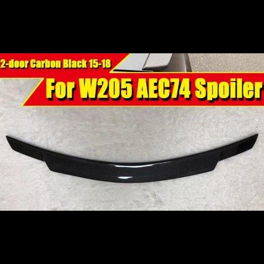 AL 車用外装パーツ W205 2ドア クーペ トランク スポイラー ウイング カーボンファイバー C74 スタイル 適用: メルセデスベンツ Cクラス C180 C230 C250 リア 2015-18 タイプ001 AL-EE-0413