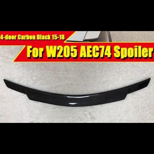 AL 車用外装パーツ W205 カーボン ハイ キック トランク スポイラー ウイング C74 スタイル 適用: メルセデスベンツ Cクラス 4ドア C180 C250 C300 C63 リア 15 タイプ001 AL-EE-0418