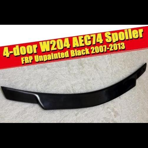 AL 車用外装パーツ 適用: メルセデスベンツ W204 トランク スポイラー FRP 未塗装 C74 スタイル 4ドア C180 C200 C63 リア ウイング 2007-2013 タイプ001 AL-EE-0441