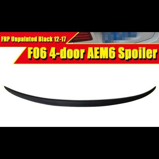 AL 車用外装パーツ F06 グランクーペ 6シリーズ リア ブート トランク スポイラー リップ ウイング スポーツ トリム メンバー M6 スタイル FRP 未塗装 640i 650i 12-17 タイプ001 AL-EE-0445