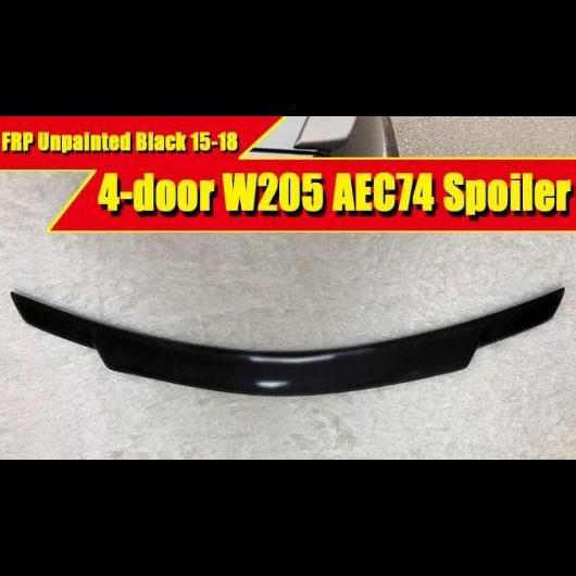 AL 車用外装パーツ W205 4ドア スポイラー FRP 未塗装 リア ウイング 適用: メルセデス Cクラス C180 C200 C260 C280 C300 C74 スタイル 2015-2018 タイプ001 AL-EE-0448