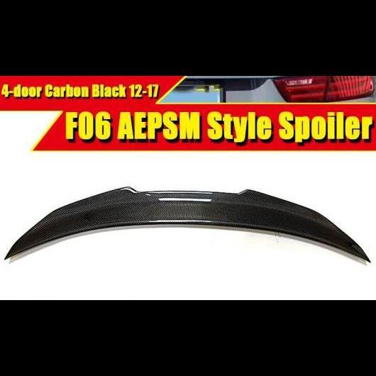 AL 車用外装パーツ F06 スポイラー リア リップ ウイング FRP カーボンファイバー スタイル 適用: BMW 6シリーズ 4ドア 640i 650i 650iGC トランク 2012-17 タイプ001 AL-EE-0449