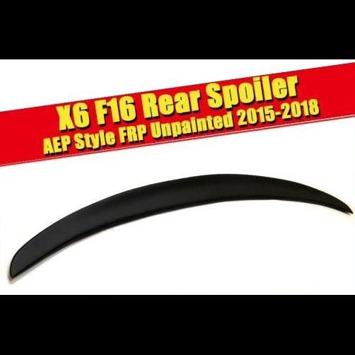 AL 車用外装パーツ 適用: X6 F16 スポイラー ステム リップ ウイング P スタイル FRP 未塗装 BMW Xシリーズ オート レーシング リア ディフューザー 2015-2018 タイプ001 AL-EE-0461