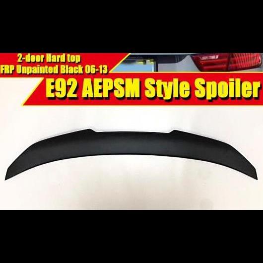 AL 車用外装パーツ E92 2ドア ハード トップ スポイラー リア ディフューザー トランク ウイング スタイル FRP 未塗装 適用: 3シリーズ 325i 330i 335i 2006-2013 タイプ001 AL-EE-0467