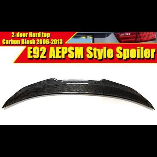 AL 車用外装パーツ E92 2ドア ハード トップ スタイル スポイラー リア ディフューザー トランク ウイング カーボンファイバー 適用: 3シリーズ 325i 330i 335i 2006-2013 タイプ001 AL-EE-0471