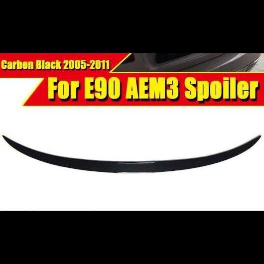 AL 車用外装パーツ E90 スポイラー リア ディフューザー トランク リップ ウイング M3 スタイル カーボンファイバー 適用: 3シリーズ 320i 325i 330i 320D 335i 05-11 タイプ001 AL-EE-0484