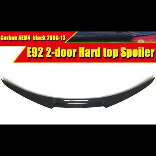 AL 車用外装パーツ M4 スタイル カーボンファイバー オート トランク リア スポイラー リップ ウイング 適用: BMW E92 2ドア ハード トップ 325i 330i 2006-2013 タイプ001 AL-EE-0485