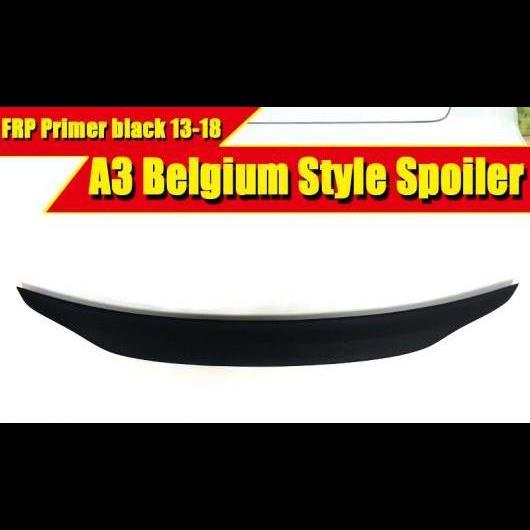AL 車用外装パーツ 適用: アウディ A3 A3Q FRP 未塗装 リア スポイラー ウイング ベルギー スタイル トランク メンバー ブート リップ 2013 タイプ001 AL-EE-0493