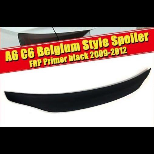 AL 車用外装パーツ 適用: アウディ A6 A6A A6Q リア スポイラー テール C6 ベルギー スタイル FRP 未塗装 リア スポイラー リア トランク ウイング 09-12 タイプ001 AL-EE-0500