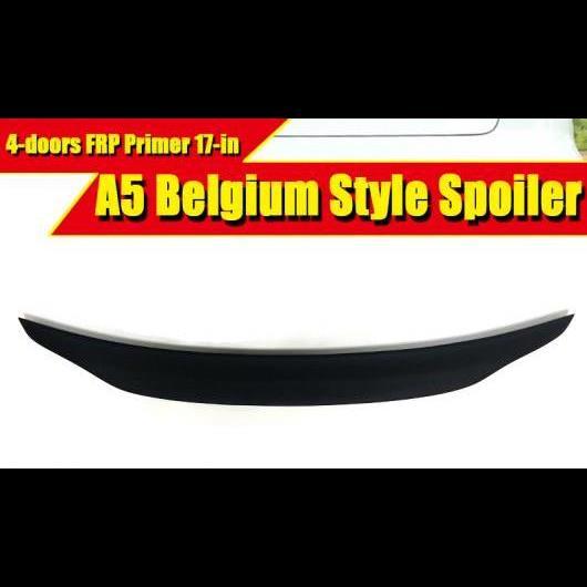 AL 車用外装パーツ 適用: アウディ A5 A5Q FRP 未塗装 スポイラー ベルギー スタイル リア トランク メンバー ブート リップ ウイング 4ドア 2017 タイプ001 AL-EE-0501