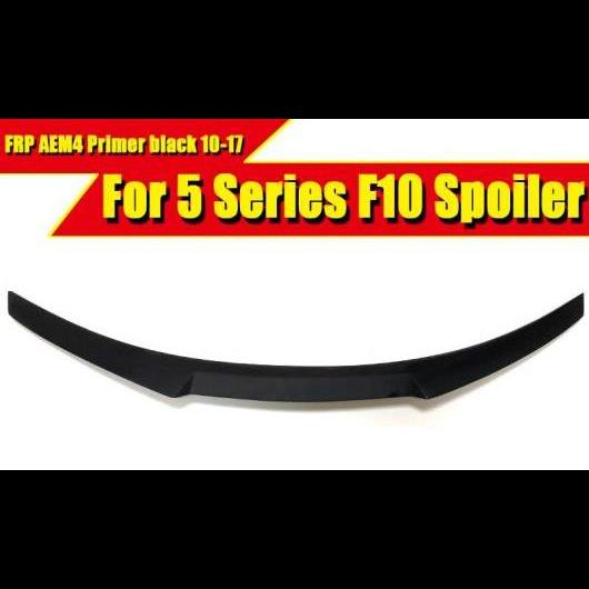 AL 車用外装パーツ F10 FRP 未塗装 M4 スタイル スポイラー リア トランク リップ ウイング 適用: BMW 5シリーズ M5 520i 523i 525i 528i 535i 2010-17 タイプ001 AL-EE-0513