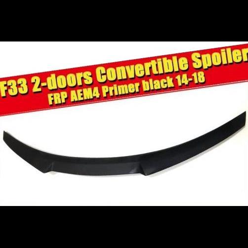 AL 車用外装パーツ F33 2ドア コンバーチブル テール リア スポイラー ウイング FRP 未塗装 4シリーズ 420i 430i 430iGC 440i リア スポイラー 2014-2018 タイプ001 AL-EE-0523