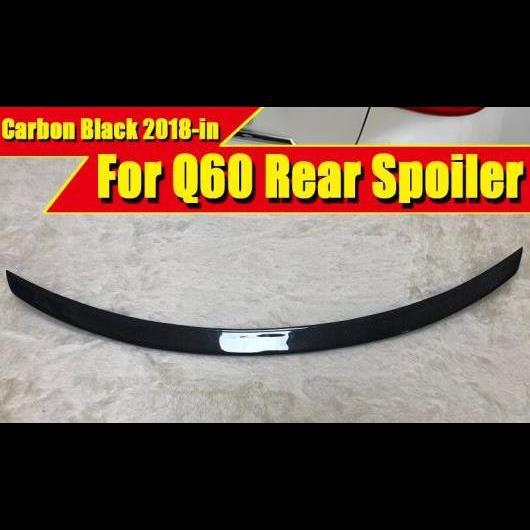 AL 車用外装パーツ 適用: インフィニティ Q60 テール リア スポイラー トランク ウイング 日産 スタイル カーボン Q60S 2018- タイプ001 AL-EE-0550