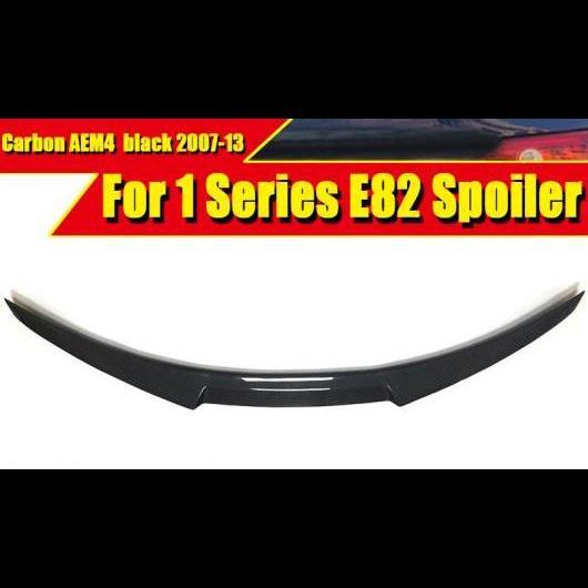 AL 車用外装パーツ E82 リア トランク スポイラー ウイング リップ カーボンファイバー 適用: BMW 1シリーズ 118i 120i 125i 128i 130i 07-13 タイプ001 AL-EE-0565