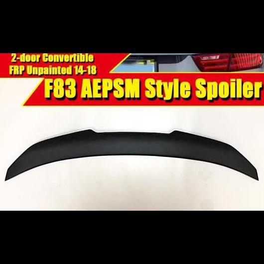 AL 車用外装パーツ F83 スタイル スポイラー FRP 未塗装 リア リップ ウイング 適用: BMW M4 2ドア コンバーチブル 420i 430i トランク 2014-2018 タイプ001 AL-EE-0622