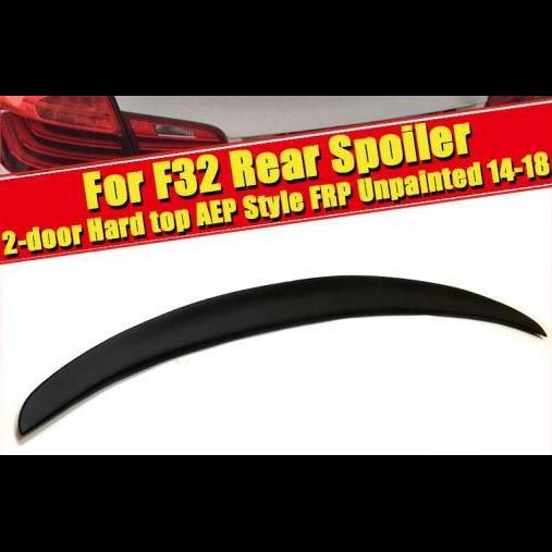 AL 車用外装パーツ F32 スポイラー FRP 未塗装 テール ウイング 適用: BMW 4シリーズ 420i 428i 430i 435i 2ドア ハード トップ スタイル ブラック リア トランク 14+ タイプ001 AL-EE-0715