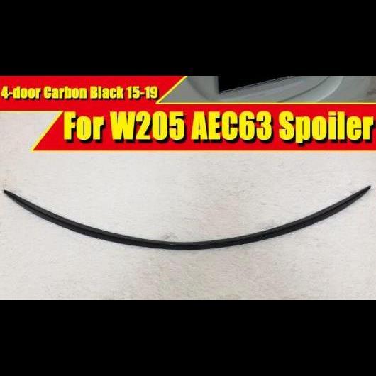 AL 車用外装パーツ 適用: Cクラス W205 4ドア C63 スタイル ブラック セダン ダックビル トランク スポイラー スポーツ C180 C250 C300 C200 C400 ウイング 2015-19 タイプ001 AL-EE-0734