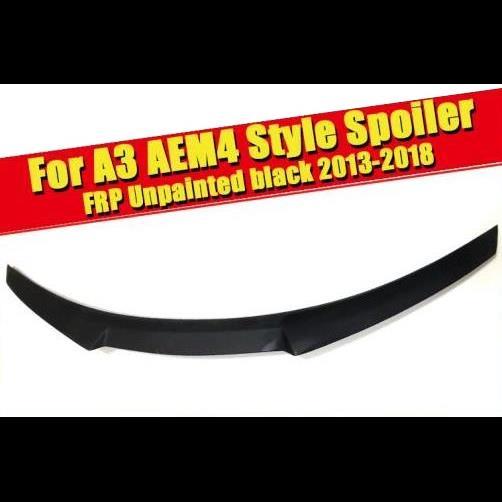 AL 車用外装パーツ A3 M4 スタイル リア トランク リップ スポイラー ウイング FRP 未塗装 ブラック 適用: アウディ セダン ダックビル 2013-2018 タイプ001 AL-EE-0772