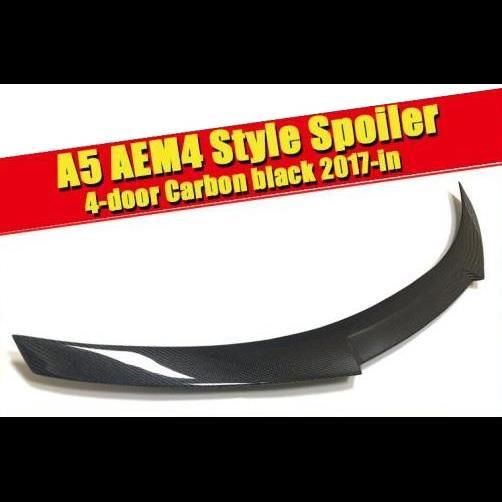 AL 車用外装パーツ 適用: アウディ A5 リア メンバー ブート スポイラー ウイング 4ドア クーペ M4 スタイル カーボンファイバー ブラック セダン ダックビル トランク リップ 2017 タイプ001 AL-EE-0780