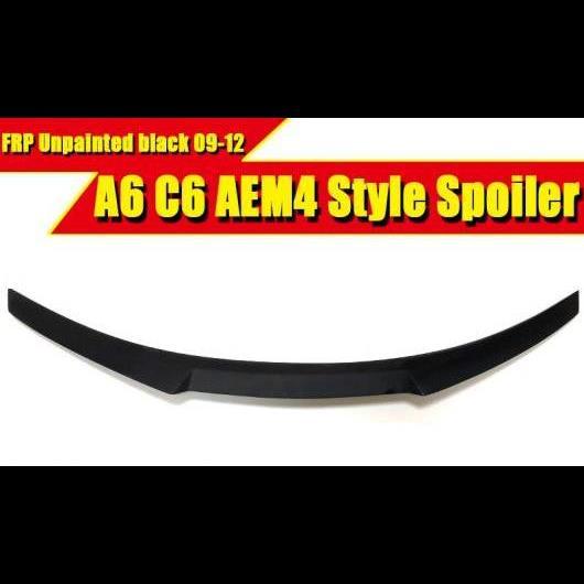 AL 車用外装パーツ 適用: アウディ A6 A6A A6Q セダン ダックビル スポイラー テール C6 M4 スタイル FRP 未塗装 リア トランク メンバー ブート ウイング 2009-12 タイプ001 AL-EE-0788
