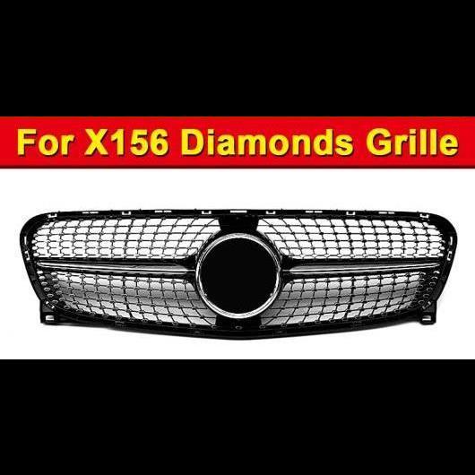 送料無料! AL 車部品 適用: GLAクラス X156 ダイヤモンド スタイル グリッド グリル GLA45 ブラック ABS GLA180 GLA200 GLA250 フロント グリル 2014-16 タイプ001 AL-EE-0841