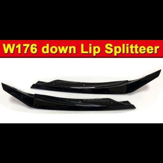 AL 車用外装パーツ W176 フロント バンパー ダウン リップ スプリッター 2個 ABS ブラック 適用: Aクラス A180 A200 A45 A45AMG 16-18 タイプ001 AL-EE-0939