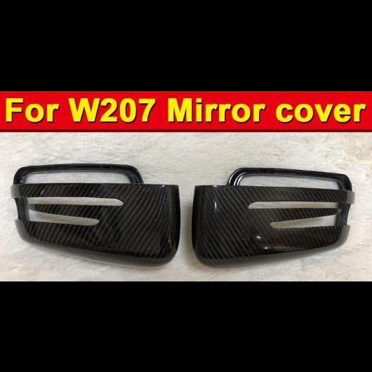 AL 車用外装パーツ Eクラス クーペ W207 ウイング ドア ミラー カバー カーボン ブラック 2個 適用: メルセデス E63AMG ヘッド 2010-16 タイプ001 AL-EE-0978