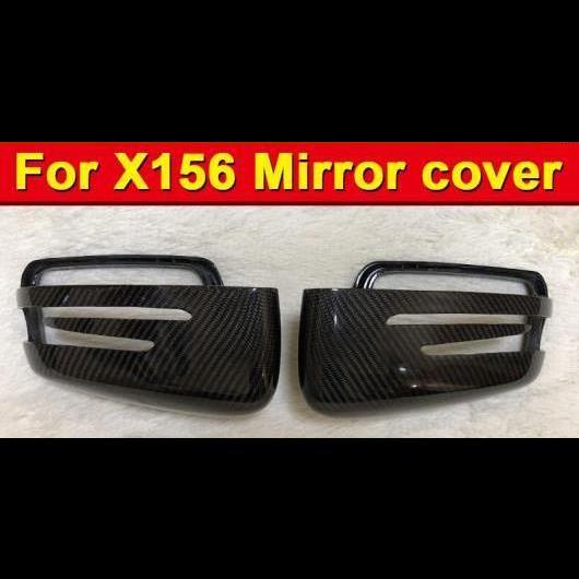 AL 車用外装パーツ 適用: メルセデス X156 ウイング ドア ミラー カバー GLA45AMG 2個 カーボンファイバー CLAクラス GLA180 200 250 OEM-適合 15-16 タイプ001 AL-EE-0980