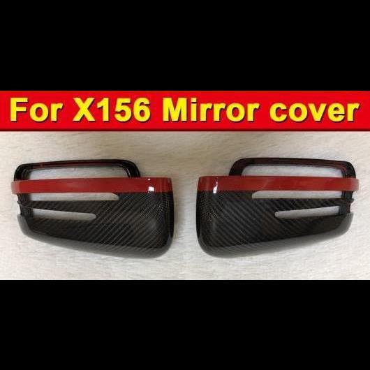 AL 車用外装パーツ GLA X156 カーボン ファイバー サイド ミラー カバー レッド ライン 適用: メルセデスベンツ GLA200 GLA250 GLA45AMG 2個 2015-2016 タイプ001 AL-EE-0983