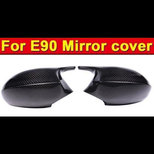 AL 車用外装パーツ 適用: BMW E90 セダン サイド ミラー カバー ヘッド アドオン スタイル 3シリーズ M3 ドライカーボンファイバー 2個 05-07 タイプ001 AL-EE-0992