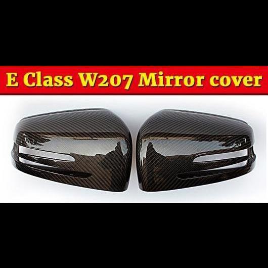 AL 車用外装パーツ 適用: メルセデスベンツ Eクラス W207 2個 リア ビュー ミラー カバー キャップ カーボンファイバー E200 E250 E300 E400 10-16 タイプ001 AL-EE-1004