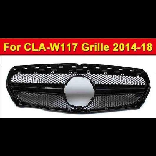 AL 車用外装パーツ 適用: CLAクラス W117 グリッド スタイル ABS 素材 ブラック グリル CLA180 CLA200 CLA250 フロント バンパー メッシュ 2014-2018 タイプ001 AL-EE-1009