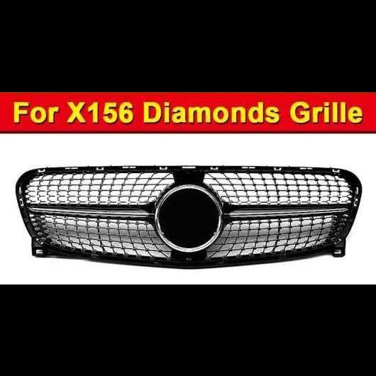 AL 車用外装パーツ X156 GLA スポーツ ダイヤモンド グリッド ABS ブラック 適用: メルセデスベンツ GLA180 CLA200 GLA220 GLA250 GLA45 グリル 2017 タイプ001 AL-EE-1025